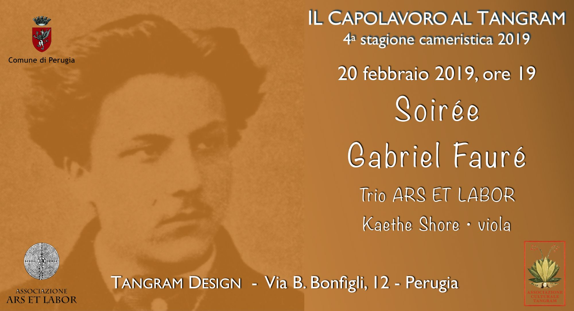Soirée Gabriel Fauré al Tangram - Perugia